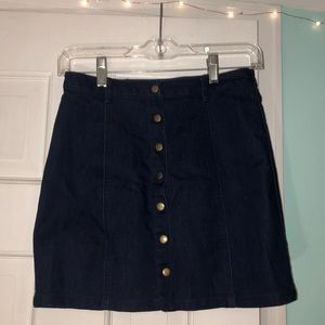 Jean skirt from forever 21 with buttons